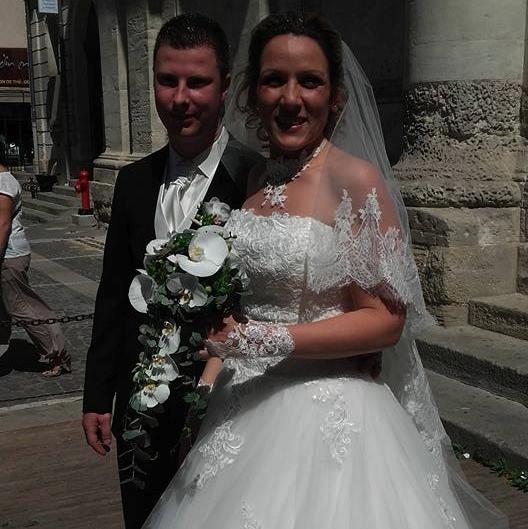 Mariés sortie église