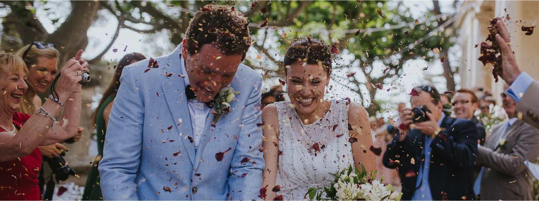 pétales de roses wedding